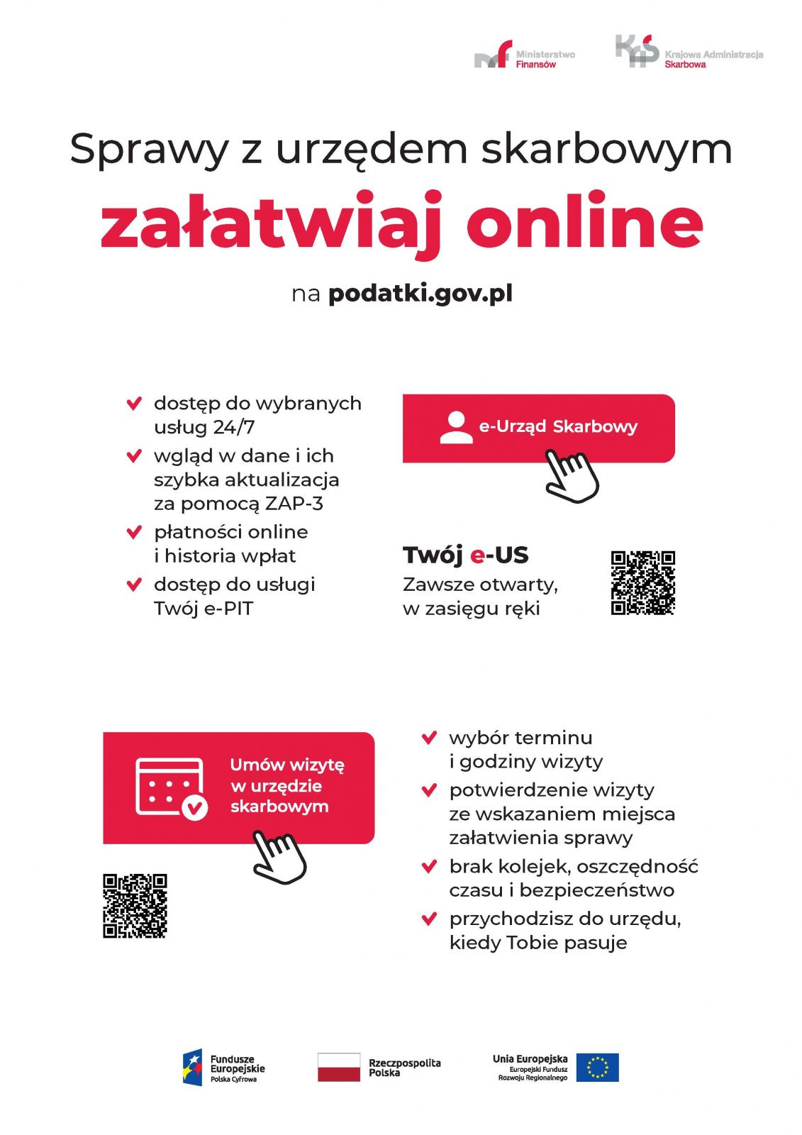 Plakat Sprawy z urzędem skarbowym załatwiaj online na podatki.gov.pl